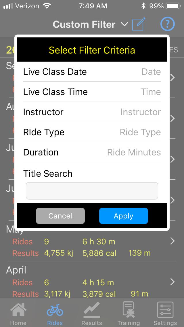 Ride Filter 2